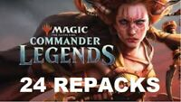 Commander Legends - Magic Gathering REPACK 24 Pack Booster Box 2 Mythic 30+ Rare