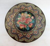 Vintage Old Collectible Floral Embossed Design Advertising Litho Tin Box Holland