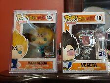 Funko Pop! Dragon Ball Z Majin Vegeta Over 9000. Signed Sabat and Vegeta 25 Excl