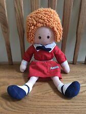 "Little Orphan Annie Vintage 1982 Knickerbocker 16"" Plush Doll Toy"
