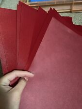 "20 12""x12"" Red Textured Plastic Feel Sheets Paper Craft Scrapbooking"