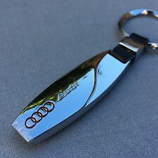 NEW AUDI LOGO METAL CHROME KEYCHAIN KEY-CHAIN Key Ring KC03