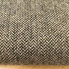 Dark Grey Herringbone Tweed Fabric 100% Wool fabric. Price per 1/2 meter