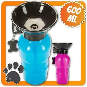 Hunde Trinkflasche mit integriertem Napf Reise Wasserflasche für Hunde Trinknapf