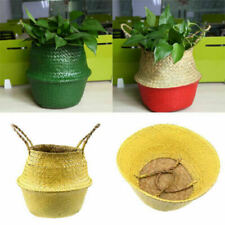 Seagrass Basket Plant Flower Pot Laundry Toy Storage Organizer Garden Home Decor