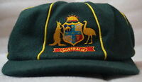 Retro Style Classic Green Baggy Cap Australia England Ashes Style Wool