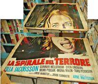LA SPIRALE DEL TERRORE manifesto 4F originale 1969 MATTSSON JACOBSSON