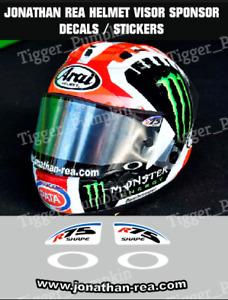 Visor Stickers / Decals for Jonathan Rea Arai Helmet NEW!!
