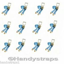 Ratchet Straps Tie Down 12 x 6 meter 50mm Blue 5 tons Claw Lashing Handy Straps