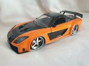1:24 Jada Fast & Furious  Han's Mazda RX-7 Orange #30732 Diecast Model Car