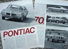 1970 70 Pontiac GTO Tempest ORIGINAL Vintage Article  CMY STORE  5+= FREE SHIP