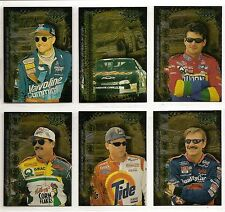 1999 Wheels High Gear Hot Streaks Nascar 6-card Set  Jeff Gordon  Mark Martin