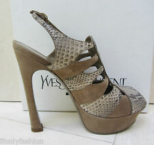 NIB YSL Yves Saint Laurent PALAIS 105 SLING PLATFORM SNAKESKIN Pumps Shoes 39