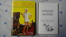 SIGNED Tori Spelling Uncharted Territori HC DJ Book New 1ST Hard Cover 90210