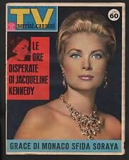 SORRISI 48/1963 GRACE DI MONACO JOHN KENNEDY DALLAS CONCORSO MON CHERI FERRERO