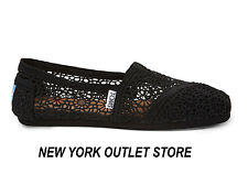 Toms Classic MOROCCO CROCHET Women's Shoes Black-Silver-Natural-Navy SIZES 5.5-9
