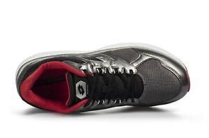 Scarpe uomo Lotto Sport Speedride 600 grigio nero rosso ginnico sportivo running