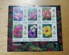 FV 2018 Malaysia Agong Sultan Kelantan Garden Flowers definitive MS Stamp MNH