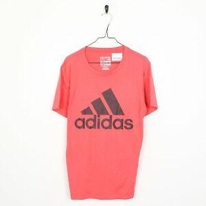 ADIDAS Big Logo T Shirt Tee Pink | Medium M