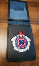 Victoria Fire CFA Rescue  Badge and leather wallet