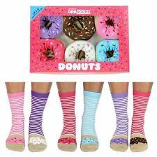 United Oddsocks Donuts Everyday Women Size 4-8 UK Six Socks All Odd Gift Box