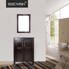 """Modern 24"""" Wood Bathroom Vanity Cabinet Vessel Sink Bowl Single Faucet Mirror US"""