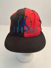 Vtg 90's Nike Air Jordan Snapback Hat Youth Kids Size Jumpman Red Black Bulls