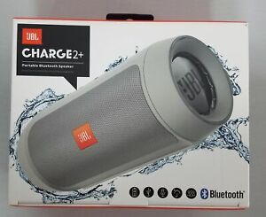 Gray JBL Charge 2+ Plus Splashproof Portable Bluetooth Stereo Speaker Harman
