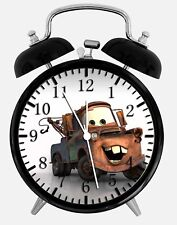 "Disney Cars Mater Alarm Desk Clock 3.75"" Home or Office Decor W130 Nice For Gift"