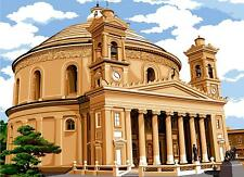 SEG de Paris Tapestry/Needlepoint Canvas – Rotunda (Church) of Mosta