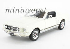 WELLY 22522 1967 67 FORD MUSTANG GT 1/24 DIECAST MODEL CAR CREAM