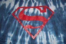Superman Tie Dye T-Shirt Womens Girls XL 16-17