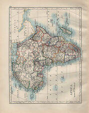1902 Carta vittoriana ~ Africa Madagascar Sahara abyssinia CAPE Colony Marocco