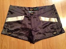 Just Johnson By Betsy Johnson 100% Silk black/cream Shorts Sz. 4 Nwt !