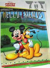 "Disney Garden Flag 12.5"" x 18"" Hello Friends / Mickey And Pluto"