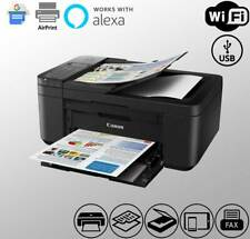 Wireless Canon TR4520 Fax Printer Scanner Copier WiFi Black (Ink Not Included)