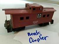 F2 HO TRAIN Scale BOX CAR VINTAGE ATSF 1951 Red brown caboose SANTA FE