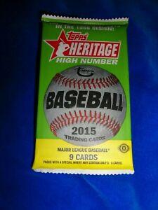 2015 Topps Heritage Baseball Hobby Pack Bryant, Correa, Lindor RC Yr