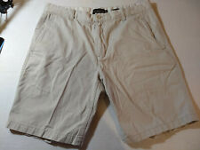 Black & Brown Mens Flat Front Casual Shorts Ivory W 38''