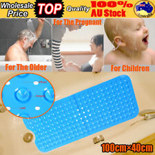 1×0.4m Extra Large Bath Tub Mat Anti Slip Long Non Skid Protection Safety Shower