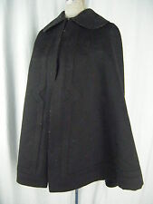 Antique Victorian/Edwardian Black Fine Heavy Wool Cape in Mint Condition!