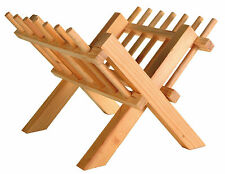 Foldable Wooden Hay Rack Food Holder for Rabbit Guinea Pig Small Animal