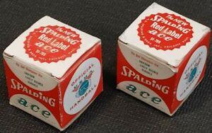 Vintage Handball Balls USHA Black Ace Red Label Spalding - Unused (1960-70's ?)