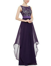 Female Vintage Prom Long Formal Dress Bridesmaid Gown Dress Lace Evening Party