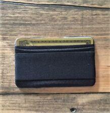GIGI Mobile Cell Phone Finger Strap Gripper w/ Credit Card Holder/Wallet (Black)