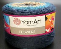 SKEIN/CAKE OF YARNART FLOWERS YARN - COLOR #263 MULTI-COLOR