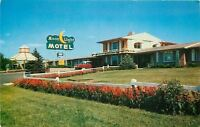 Independence Missouri~Best Western Moonlight Motel~Nice 1950s Car~Postcard