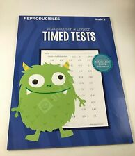 Multiplication Division Timed Test Gr.3 Teaching Tree Reproducibles 38 Pack Math