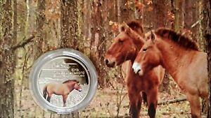 2021 #11 Ukraine Coin 5 Hryven Chernobyl Renaissance Przewalski horse BOOKLET