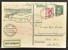 GERMANY 1928 Eagle on Beethoven Music PSC Airmail Picture 1 PSC Card Köln-Berlin